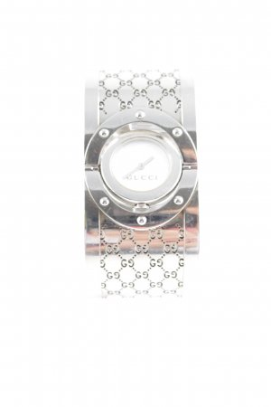Gucci Watch With Metal Strap silver-colored-white business style