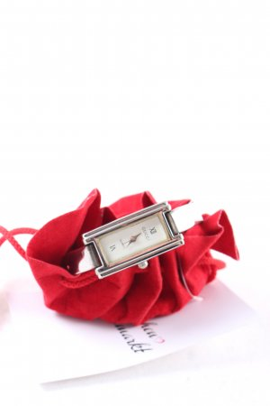 Gucci Uhrenspange silberfarben-wollweiß Elegant