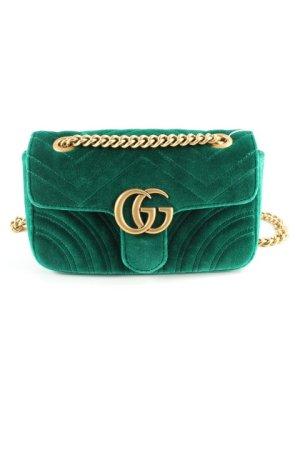 Gucci Crossbody bag gold-colored-forest green elegant