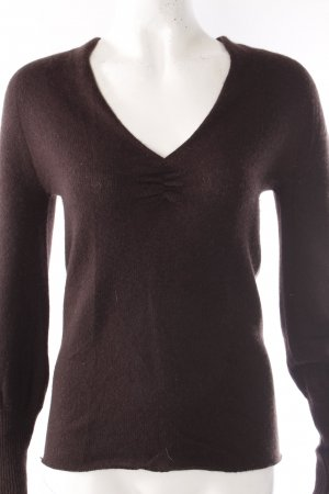 Gucci V-Neck Sweater black brown-brown