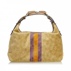 Gucci Velour Horsebit Hobo Bag