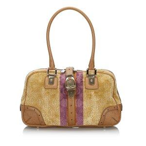 Gucci Velour Horsebit Shoulder Bag