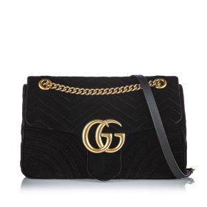 Gucci Velour Marmont Shoulder Bag