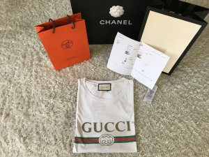 Gucci Vintage Logo T-Shirt Rar Sold Out Blogger GG Top Oberteil Luxus