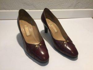 Gucci Vintage Pumps Gr.36,5 - rot-braunes Leder