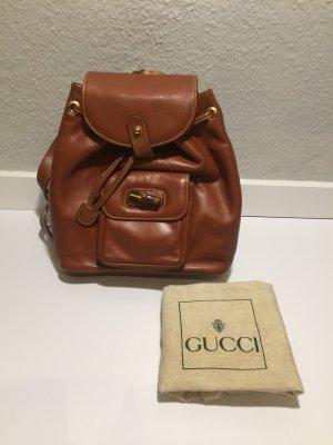 GUCCI Vintage-Rucksack aus braunem Leder