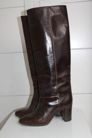 Gucci Vintage Slouch Stiefel Reiterstiefel Leder Braun Top Zustand 39
