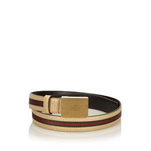 Gucci Belt beige leather