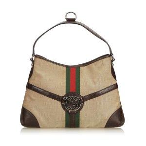 Gucci Web Canvas Reins Handbag