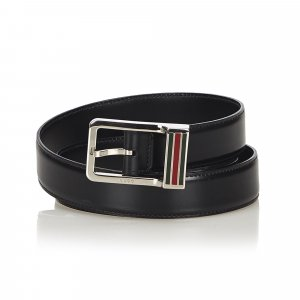Gucci Web Leather Belt