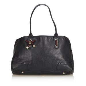 Gucci Web Leather Princy Tote Bag