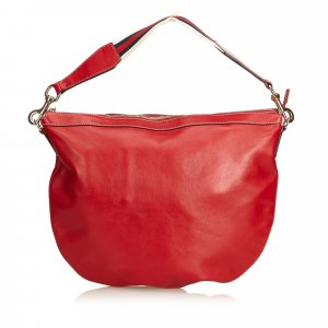 Gucci Shoulder Bag red leather