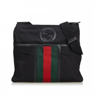 Gucci Web Parana Canvas Crossbody Bag