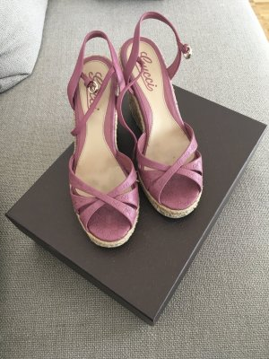 Gucci wedges in rosa