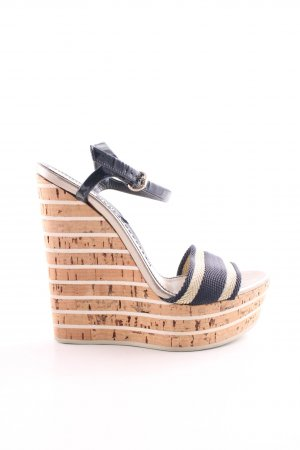 Gucci Wedges Sandaletten Streifenmuster Casual-Look