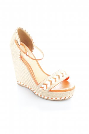 Gucci Wedges Sandaletten orange-beige Beach-Look