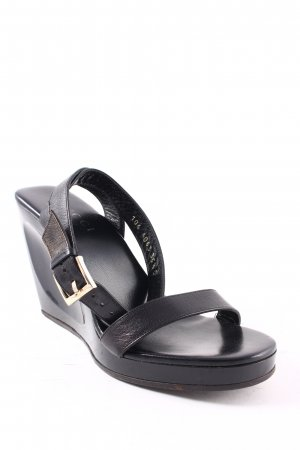 Gucci Wedge Sandals black elegant