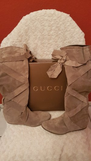 Gucci Botte haute gris-marron clair