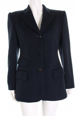Gucci Woll-Blazer dunkelblau Business-Look