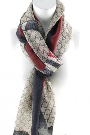 "Gucci Wollschal ""Web and Kingsnake Print Wool Scarf Ebony/Navy"""