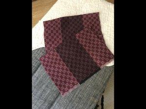 Gucci Wollen sjaal bordeaux-lichtgrijs