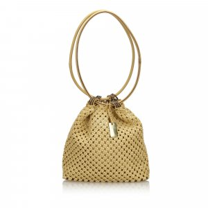 Gucci Woven Cotton Shoulder Bag
