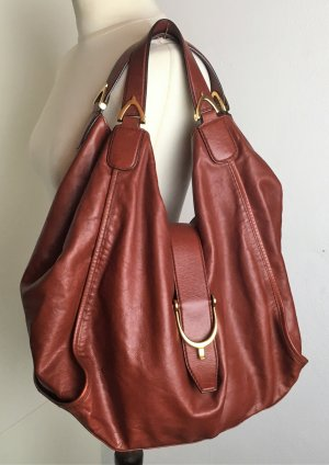 Gucci Hobos brown leather
