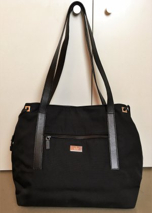 Gucci Shopper black-silver-colored textile fiber