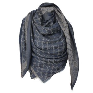 Gucci Kerchief dark blue-beige wool