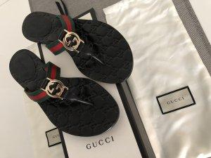 Gucci Sandalo infradito nero Pelle