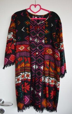 Gudrun Sjöden - Woll Tunika Kleid im Azteken Look M - neu