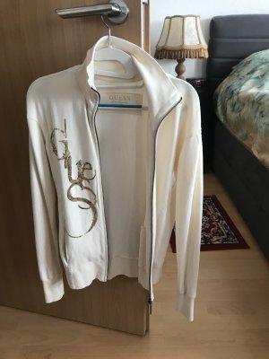 Guess Chaqueta de tela de sudadera blanco fibra textil