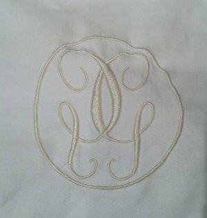 Badmantel wit-goud