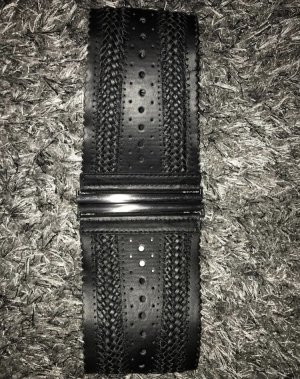 Waist Belt black-silver-colored