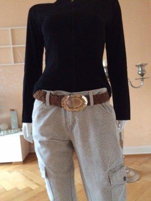 B Belt Cintura intrecciata marrone-cognac Scamosciato