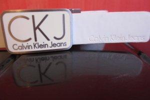 Calvin Klein Jeans Belt white-black