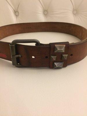 Diesel Cinturón de cuero marrón Cuero