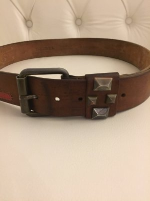Diesel Leather Belt brown leather
