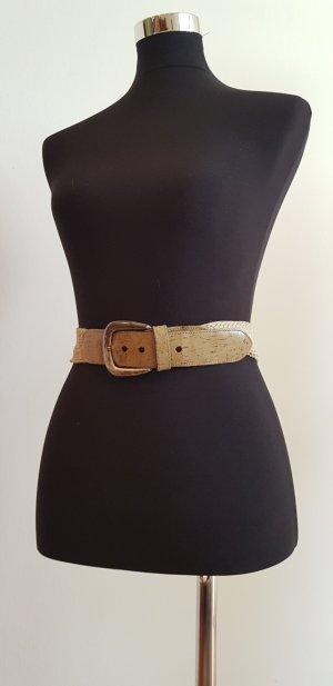 Cintura intrecciata marrone chiaro