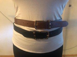 Primark Faux Leather Belt black-brown