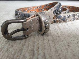 Cinturón de cuero multicolor