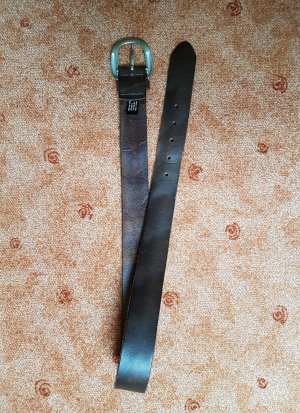 Liebeskind Berlin Cinturón de cuero marrón grisáceo-marrón