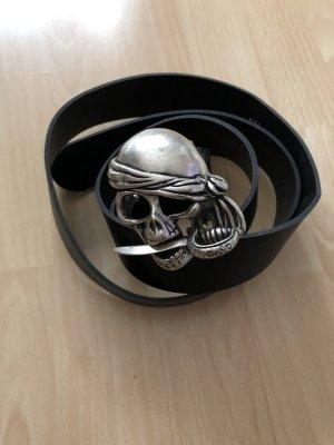 Fibbia per cinture nero-argento