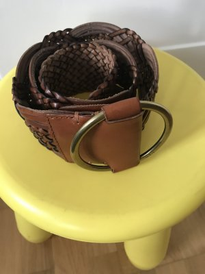 Ralph Lauren Leather Belt brown-gold-colored