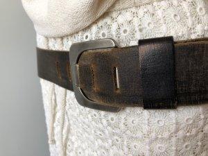 17&co Cinturón de cuero marrón-negro