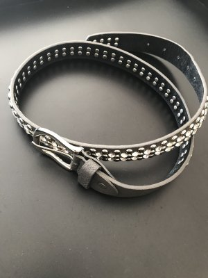 Studded riem taupe