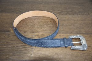 Reptile's House Belt anthracite reptile leather