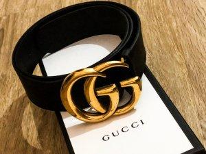 Gucci Cinturón de cuero negro Cuero