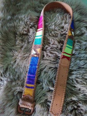 Faux Leather Belt cognac-coloured