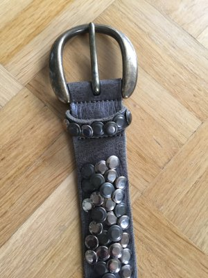 B Belt Studded Belt green grey-gold-colored leather